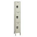 Rust Resistant Galvanite Triple-Tier 1-Wide Lockers by Hallowell