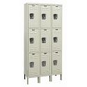 Click here for more Rust Resistant Galvanite Triple-Tier 3-Wide Lockers by Hallowell by Worthington