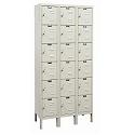 Rust Resistant Galvanite Six-Tier 3-Wide Lockers by Hallowell