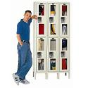 Safety View Double-Tier 3-Wide Lockers by Hallowell