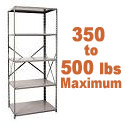 Medium-Duty Open Shelving w/ 5 Shelves by Hallowell