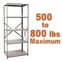 Heavy-Duty Open Shelving w/ 5 Shelves by Hallowell