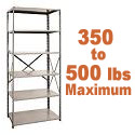 Medium-Duty Open Shelving w/ 6 Shelves by Hallowell