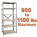 Extra Heavy-Duty Open Shelving w/ 6 Shelves by Hallowell