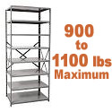 Extra Heavy-Duty Open Shelving w/ 8 Shelves by Hallowell