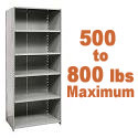 Heavy-Duty Closed Shelving w/ 6 Shelves by Hallowell