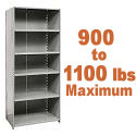 Extra Heavy-Duty Closed Shelving w/ 6 Shelves by Hallowell
