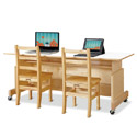Click here for more Apollo Double Computer Desk by Jonti-Craft by Worthington
