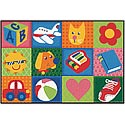 Click here for more Toddler Fun Squares Value Rug by Carpets for Kids by Worthington
