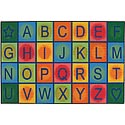 Click here for more Simple Alphabet Blocks Value Rug by Carpets for Kids by Worthington