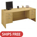 Click here for more Series C Double Pedestal Desk by Bush Industries by Worthington