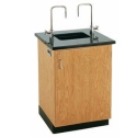 Science Lab Service Island with Solid Epoxy Top by Diversified Woodcrafts