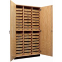 Science Storage Cabinet with Tote Trays by Diversified Woodcrafts