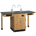 Click here for more Single Face Science Service Island by Diversified Woodcrafts by Worthington