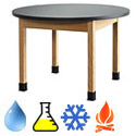 Round Science Lab Tables by Diversified