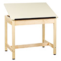 Click here for more Drafting Table w/ 1-Piece Top by Shain by Worthington