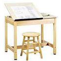 Split-Top Drafting Tables by Shain