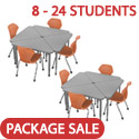 Click here for more Classroom Set- Single Apex Triangle Desks & Pumpkin Spice Chairs by Marco Group by Worthington