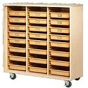 Click here for more Mobile Tote Tray Storage Cabinet by Shain by Worthington