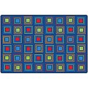 Click here for more Primary Squares Seating Rug by Carpets for Kids by Worthington