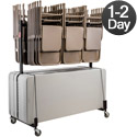 Dual Folding Chair Caddy & Folding Table Truck by NPS