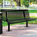 Kensington Outdoor Bench with Back by UltraPlay
