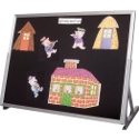 Flannel Classroom Tabletop Easel by Best-Rite