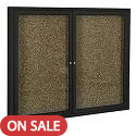 Indoor Enclosed Bulletin Board w/ Coffee Frame by Best-Rite