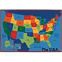 USA Map ValuePlus Rug by Carpets for Kids