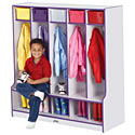 Rainbow Accents Coat Lockers by Jonti-Craft