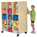 Big Twin Mobile Cubbie Locker (15 cubbies per side) by Jonti-Craft