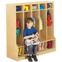 Coat Locker With Step by Jonti-Craft