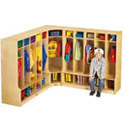 Click here for more Corner Coat Locker with Step by Jonti-Craft by Worthington