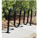 Click here for more Metal Waved Bike Racks by Jayhawk Plastics by Worthington