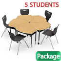 Click here for more Hard Plastic Shapes Desk & Hierarchy Chair Packages by Balt by Worthington