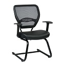 Click here for more Professional AirGrid Back Guest Chair with Eco Leather Seat by Office Star by Worthington