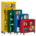 Mobile Metal Bookcases by Sandusky Lee