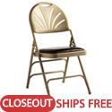 Click here for more Clearance- Leather & Memory Foam Padded Fanback Steel Folding Chairs by Samsonite by Worthington