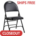 Click here for more Leather & Memory Foam Comfort Series Padded Steel Folding Chairs by Samsonite by Worthington
