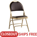Click here for more Clearance- Leather & Memory Foam Comfort Series Padded Steel Folding Chairs by Samsonite by Worthington