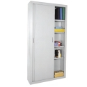 Tall Sliding Door Storage Cabinet by Sandusky Lee
