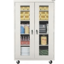 Mobile Expanded Metal Front Storage Cabinets by Sandusky Lee