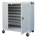 Mobile Laptop Cart Security Cabinet by Sandusky Lee