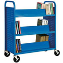 Click here for more Book Truck with 6 Slant Shelves by Sandusky Lee by Worthington