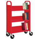 Click here for more Book Truck with 3 Slant Shelves by Sandusky Lee by Worthington