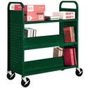Click here for more Book Truck with 4 Slant Shelves and Flat Top by Sandusky Lee by Worthington