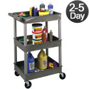 Click here for more Heavy Duty Utility Cart w/ 3 Shelves by Luxor by Worthington