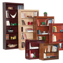 Contemporary Style Wood Bookcases w/ Steel Reinforced Shelves by Norsons
