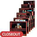 Radius Style Wood Bookcases w/ Steel Reinforced Shelves by Norsons
