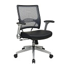 Click here for more Light AirGrid Back and Eco Leather Seat Managers Chair by Office Star by Worthington